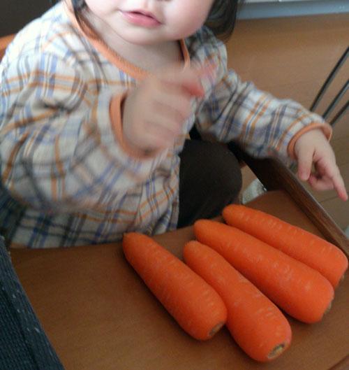 1歳8ヶ月の娘は「お風呂大好き食材ハンター」でした